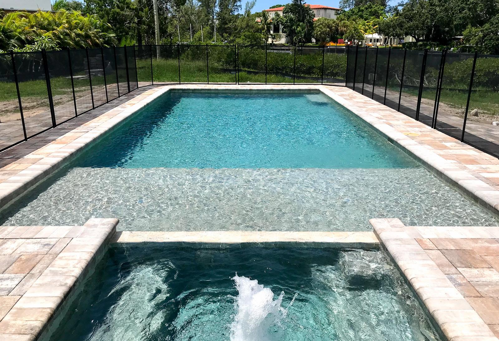 New Pool Siesta Key modern swimming pools