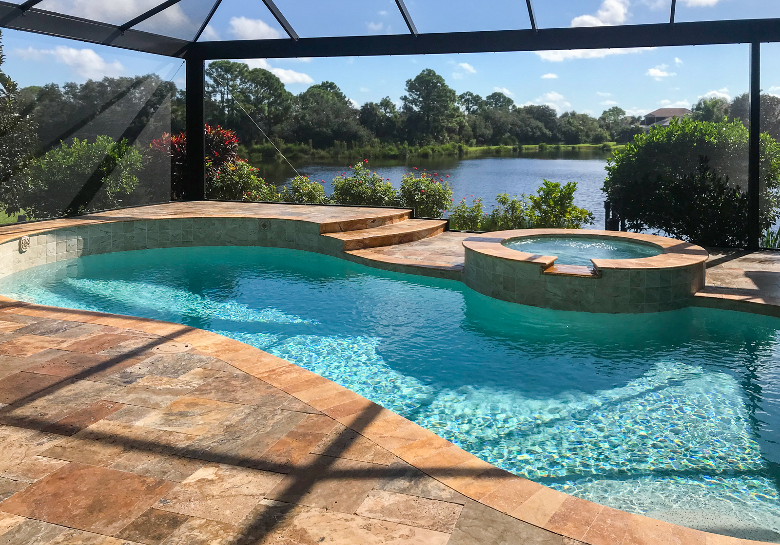 Palmer Ranch freeform pool remodel in Osprey.